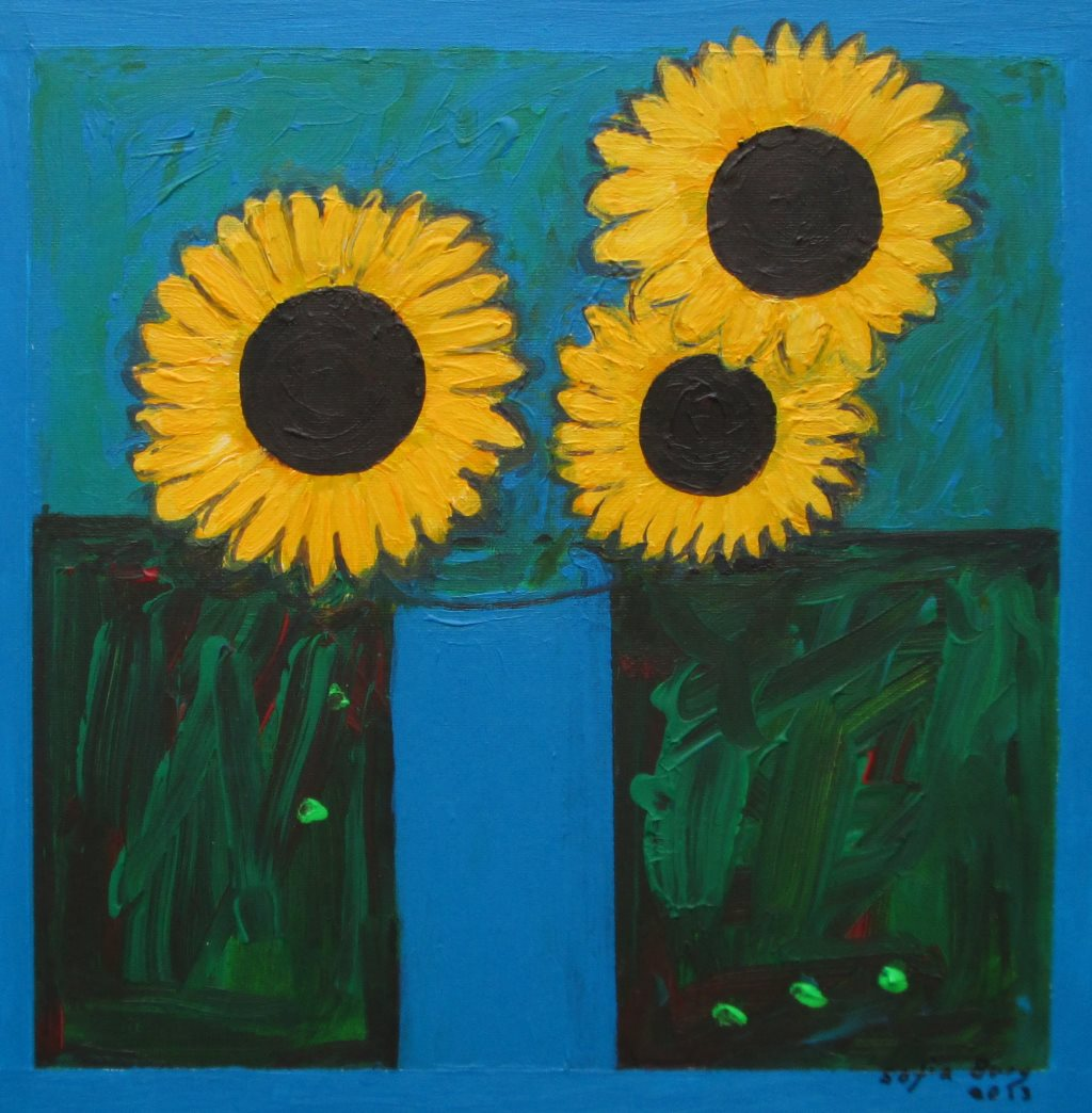 SUNFLOWERS-2013-ACRYLIC-ON-CANVAS-SOFIA-BURY-40-CM-X-40-CM-185.00-EURO