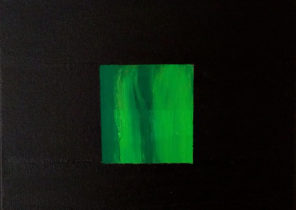 GREEN ON BLACK,ACRYLIC ON CANVAS