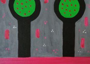 APPLE TREES !!, ACRYLIC ON CANVAS.  SOFIA BURY.